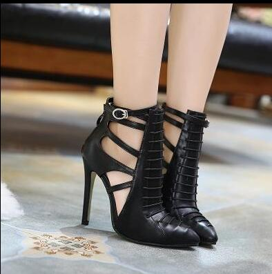 ФОТО beautiful shoes sexy woman boots ankle boots stiletto high heels  fashion appearance buckle strap closure type suit to spring