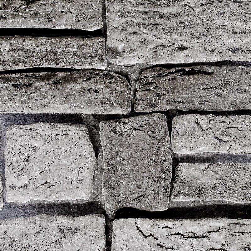 Paper Stone Walls : Aliexpress buy grey beige brown vinyl wallpaper