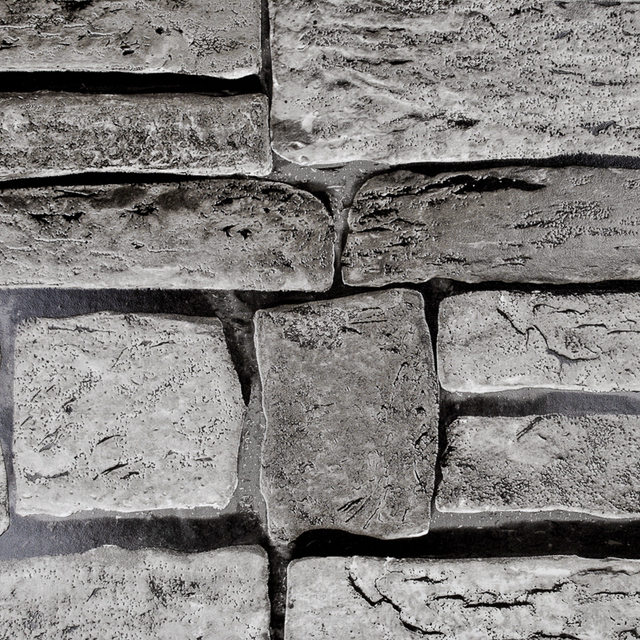 Vintage Brick Wallpaper 3d Aliexpress Com Buy Grey Beige Brown Vinyl Wallpaper