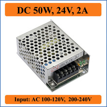 50W 24V 2A Switching Power Supply Factory Outlet SMPS Driver, 110V/220V AC-DC 24V Transformer for LED Strip Light Module Display