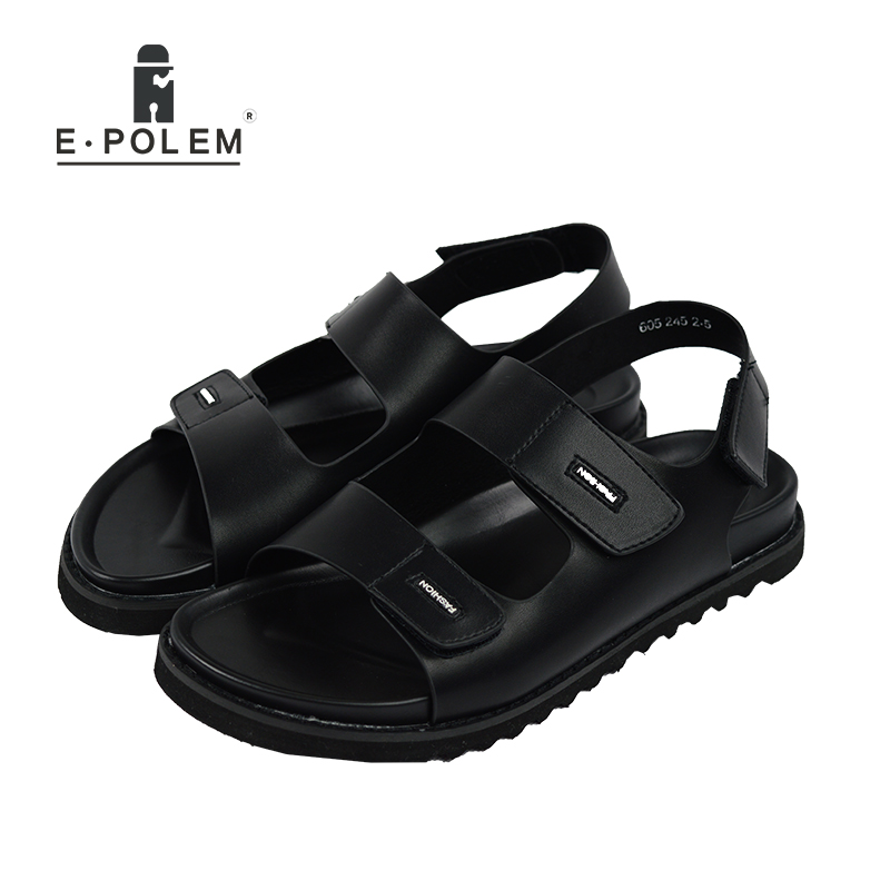 2017 New Summer Beach Shoes Men Sandals Roma Leisure Breathable Cool Open Toe Vintage Fashion Sandal Male Outdoor Shoes Black