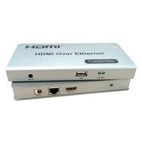 Последние HDMI Extender HDMI KVM Extender над Enthernet через один cat5e/6/7 120 м HDMI KVM Over IP Extender Full HD 1080 P