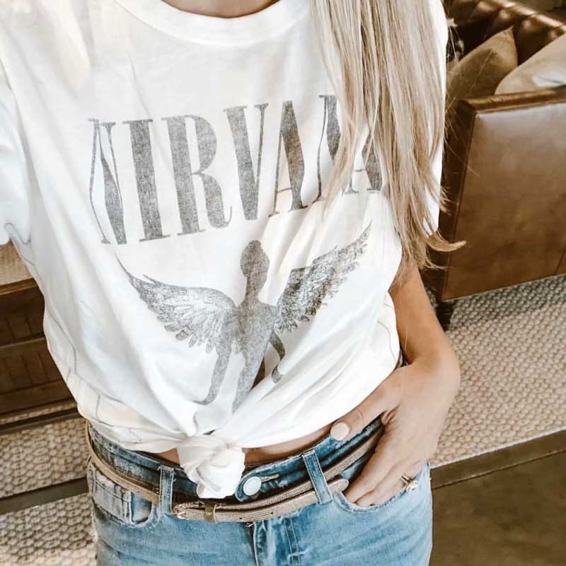 Boho Inspiriert frauen Weiß T Kurzarm Engel Grafik Tees Tops 2019 neue Sommer grund casual T-Shirt camisetas mujer
