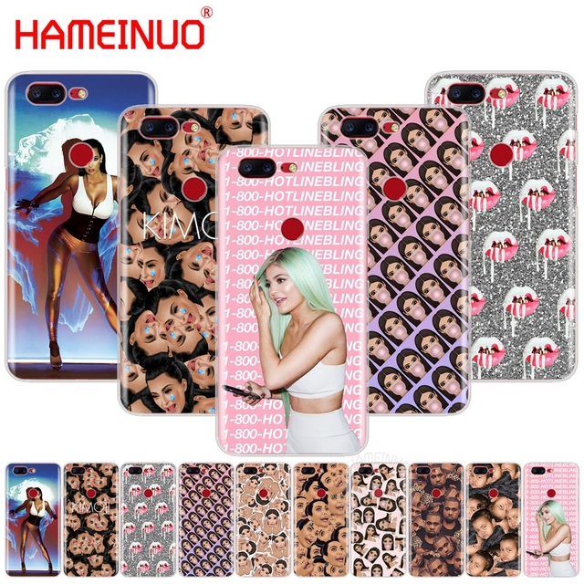 buy popular 79d8d 619f2 US $1.64 34% OFF|kanye west kim kardashian kimoji KYLIE JENNER cover phone  case for Oneplus one plus 5T 5 3 3t 2 X A3000 A5000-in Half-wrapped Case ...