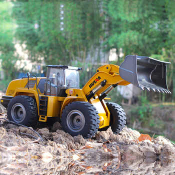 Huina 583 1583 10 Channel Full Functional Remote Control Front Loader Construction Tractor, Full Metal Bulldozer Toy 1:14 Scale - DISCOUNT ITEM  29% OFF All Category