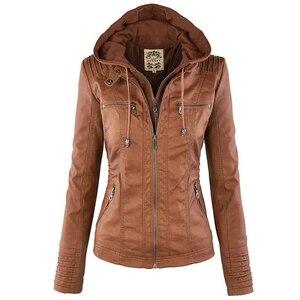 2018 Winter Faux Leather Jacket Women Casual Basic Coats Plus Size 7XL Ladies Basic Jackets Waterproof Windproof Coats Female 50(China)