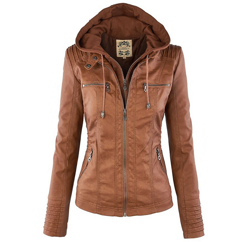 2018 Winter Faux Leather Jacket Women Casual Basic Coats Plus Size 7XL Ladies Basic Jackets Waterproof Windproof Coats Female 50 title=