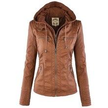 2018 Winter Faux Leather Jacket Women Casual Basic Coats Plu