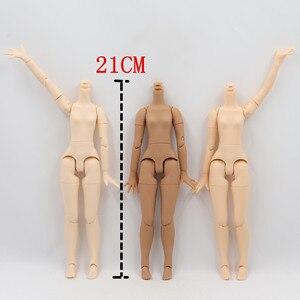 Image 5 - blyth doll icy toy body small chest joint body azone body white skin dark skin natural skin for DIY custom doll