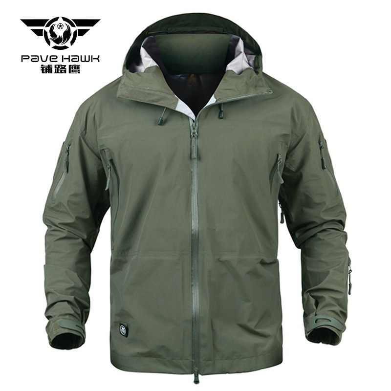 Waterproof Tactical HardShell  Full Adhesive Shell Jacket Cold-proof Military Camouflage Hooded Pressure Glue Windbreaker Coat