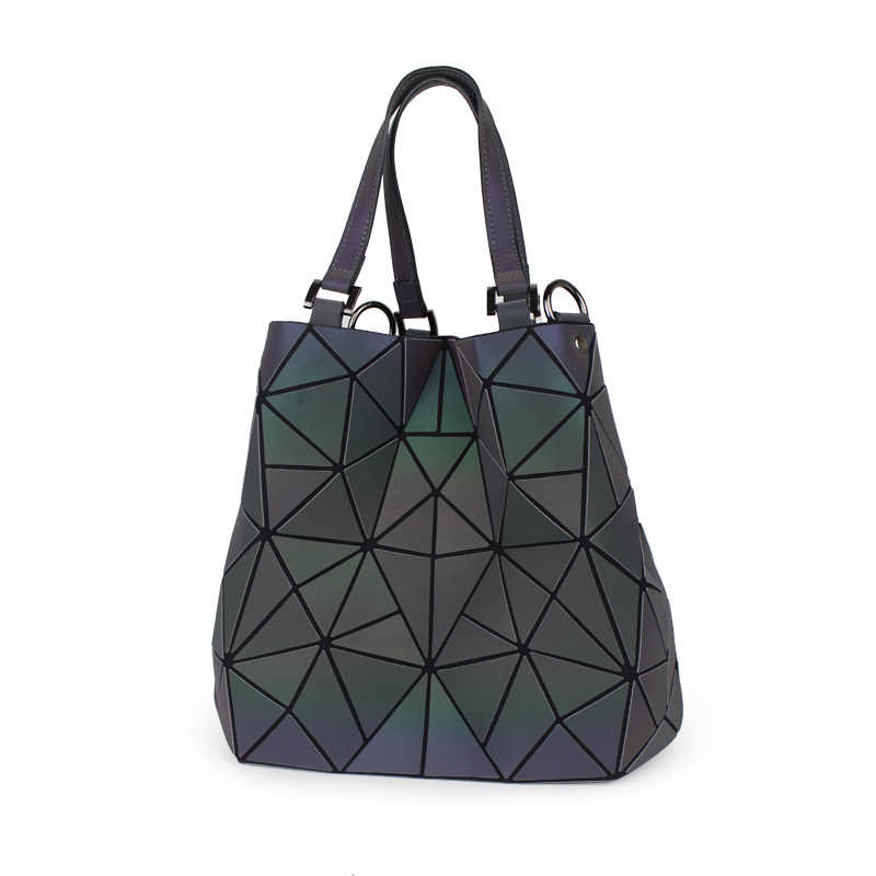 Women Shoulder Tote New Bag Geometry Folding Luminous 2019 Diamond J3TlF1Kc