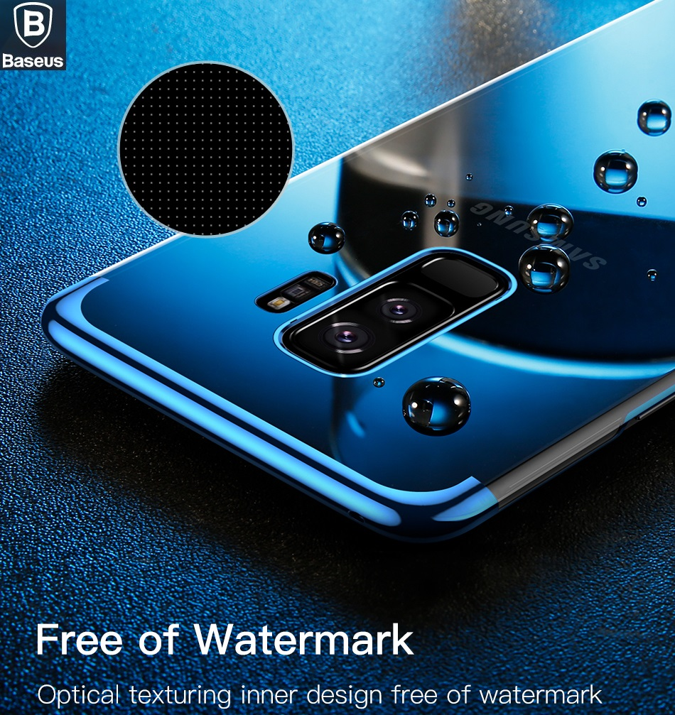 Baseus Brand Electroplating Arc Hard Pc Clear Back Case Peonia Transparent Ultrathin Xiaomi Redmi Note 5 Pro Ai For Samsung Galaxy S9 Plus 8 Exquisite Protection Cover