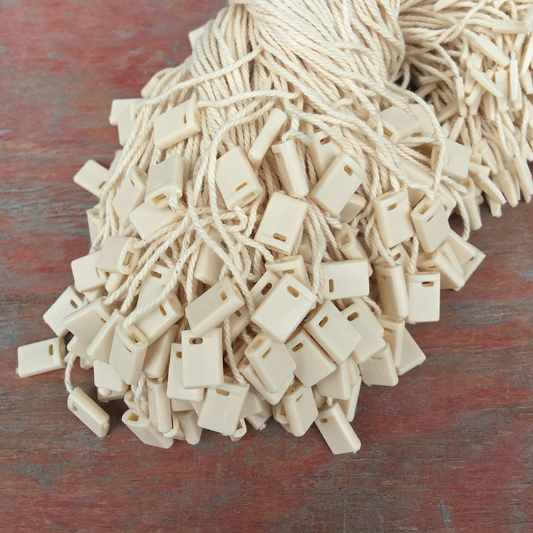 In Stock Good Quality Cotton Beidge Clothing Hang Tag String In Apparel,hang Tag Strings Cord For Garment String Seal Tag