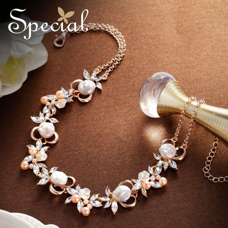 Mode spéciale naturel coquille de mer Maxi collier perles perlées colliers et pendentifs de mariage bijoux de mariée cadeaux pour les femmes S1891N