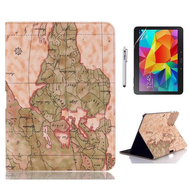 Case for samsung galaxy tab 4 101 t530 stylish world map pattern pu case for samsung galaxy tab 4 101 t530 stylish world map pattern pu leather folding stand gumiabroncs Image collections