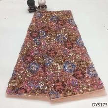 george lace fabric Sequin Lace Fabric sequence dry fabrics high quality cotton DYS173