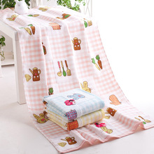 70x140cm Radish rabbit gauz bath towel thicken and pure cotton Bathroom Beach Towel for Adult Commodity Multifunction