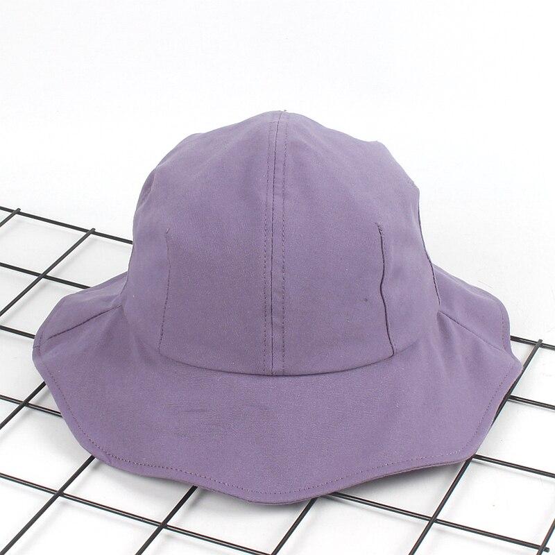09f2c240b3498 New Large brim Bucket Hat women Fashion summer dome Bob Caps falbala  panamas Beach Sun Fishing