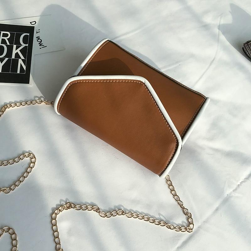 Новые модные сумки модные цвета, небольшие посылка простой сплошной Магнитная застежка сумка одного плеча Ba