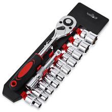 12 шт. 1/4 мини-гаечный ключ, Набор торцевых головок CR-V, гаечный ключ для велосипеда, мотоцикла, автомобиля PAK55