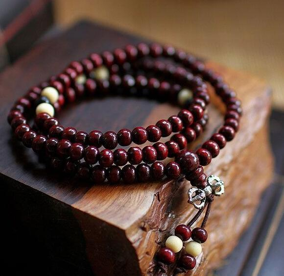 Men Women Rosewood Beads Bracelet