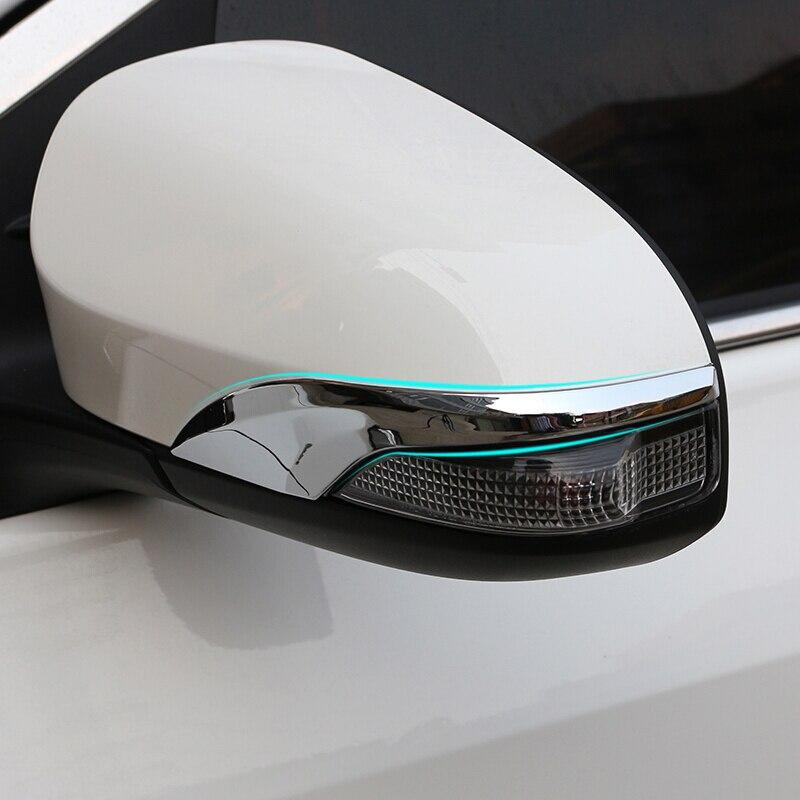 ABS Chrome For Toyota Venza Auris 2013 2014 2015 2016 2017 accessories Car Rearview mirror decoration strip cover trim 2pcs|Chromium Styling| |  - title=