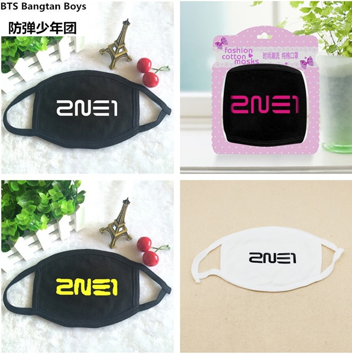 Clever Bigbang 2016 New Black Cotton Mouth Anti-dust Mask Masks Kpop K-pop Collective Gd G-dragon Top Mouth-muffle Face Respirator Face Men's Accessories Men's Earmuffs