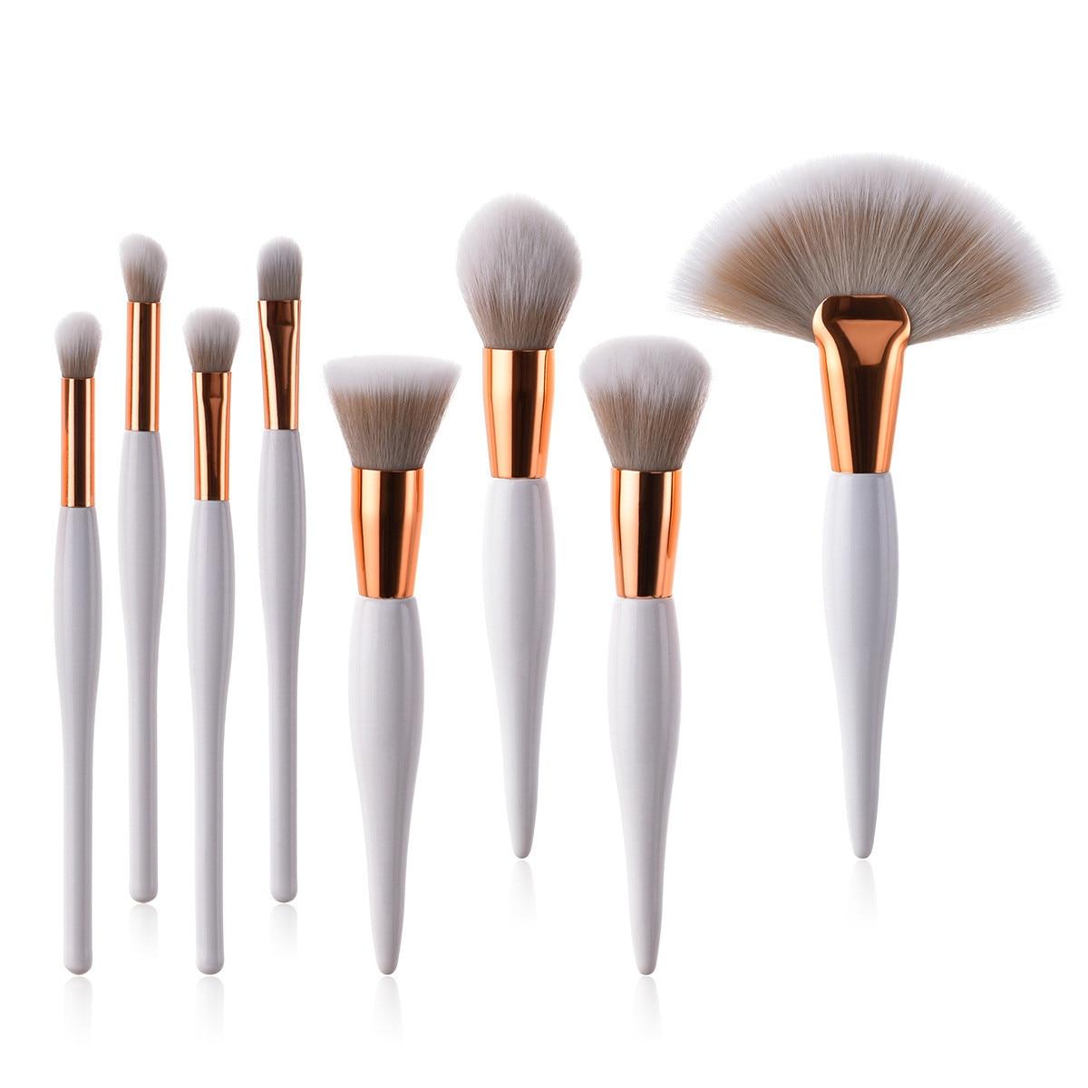Tesoura de Maquiagem escova cosmética conjunto Makeup Brush Kit : Powder Foundation Face Eye Blending Brush Kit