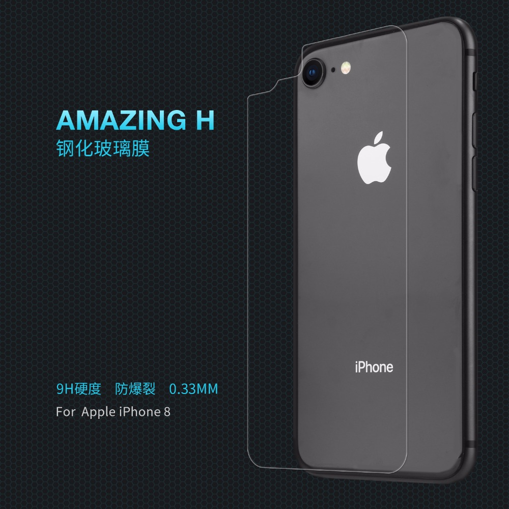 back cover glass film for Apple iphone 8 8plus iphone8 plus NILLKIN Amazing H Nanometer Anti-Explosion 9H Tempered glass