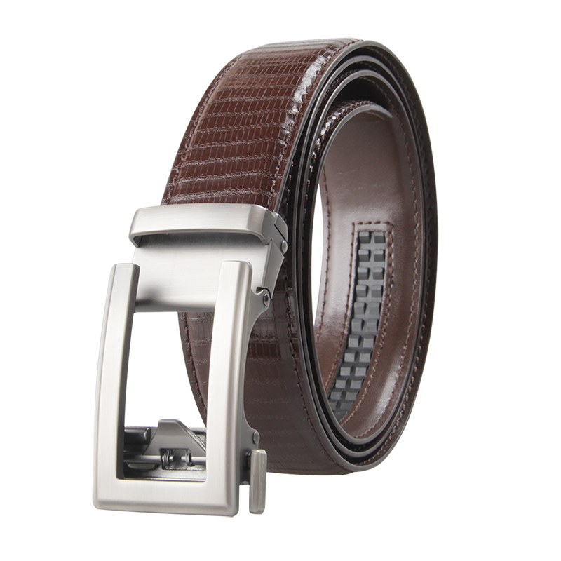 Famous Brand Belt Men Top Quality Genuine Luxury Leather Belts for Men Strap Male Metal Black Leather Automatic Buckle Belts Men in Men 39 s Belts from Apparel Accessories