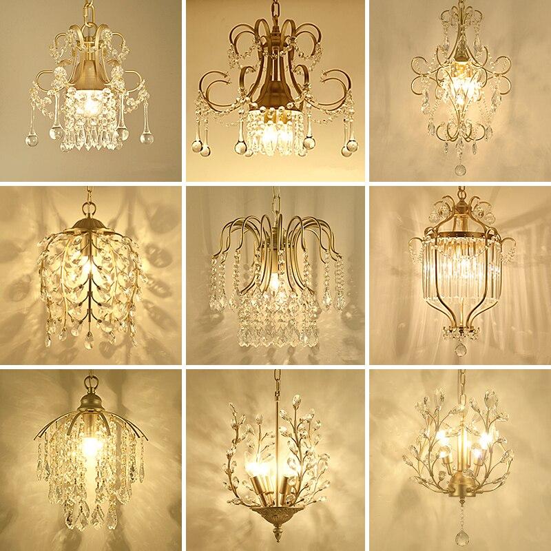 Moderne Lustre En Cristal Éclairage De Luxe D'or/Noir Lustres Lampe Suspendue Lumière Lustres De Cristal Lampe Hôtel Éclairage