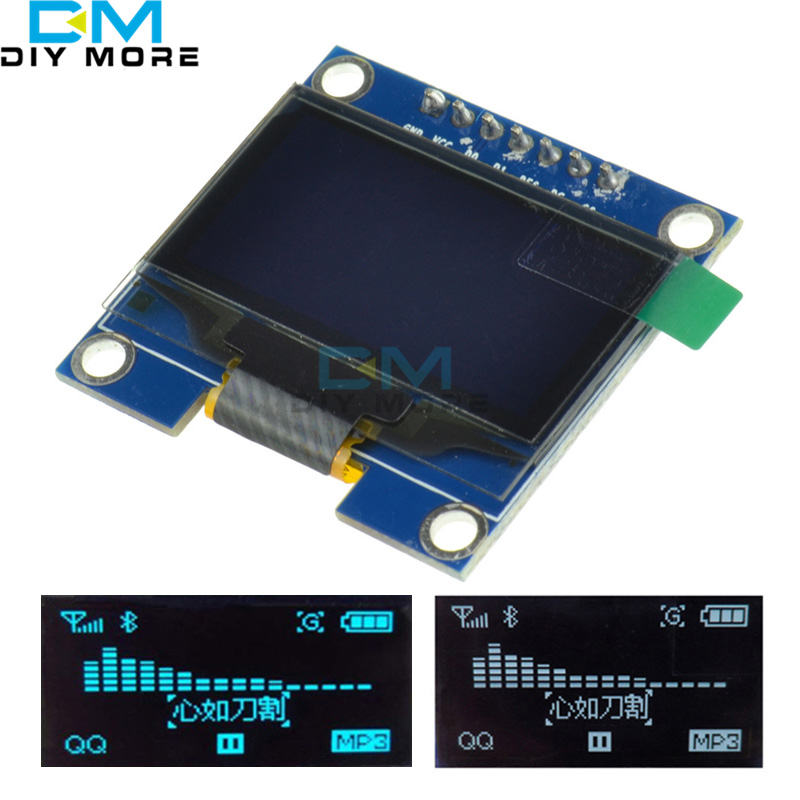 DC 3V 5V 7PIN 1.3 SPI Serial 128*64 OLED LCD Display Screen Module for Arduino UNO R3 51 White Blue Display