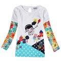 Nova t camisas novos designs desgaste dos miúdos crianças roupas de outono roupas de bebê meninas t-shirt 2016 crianças roupas criança meninas vestir topos