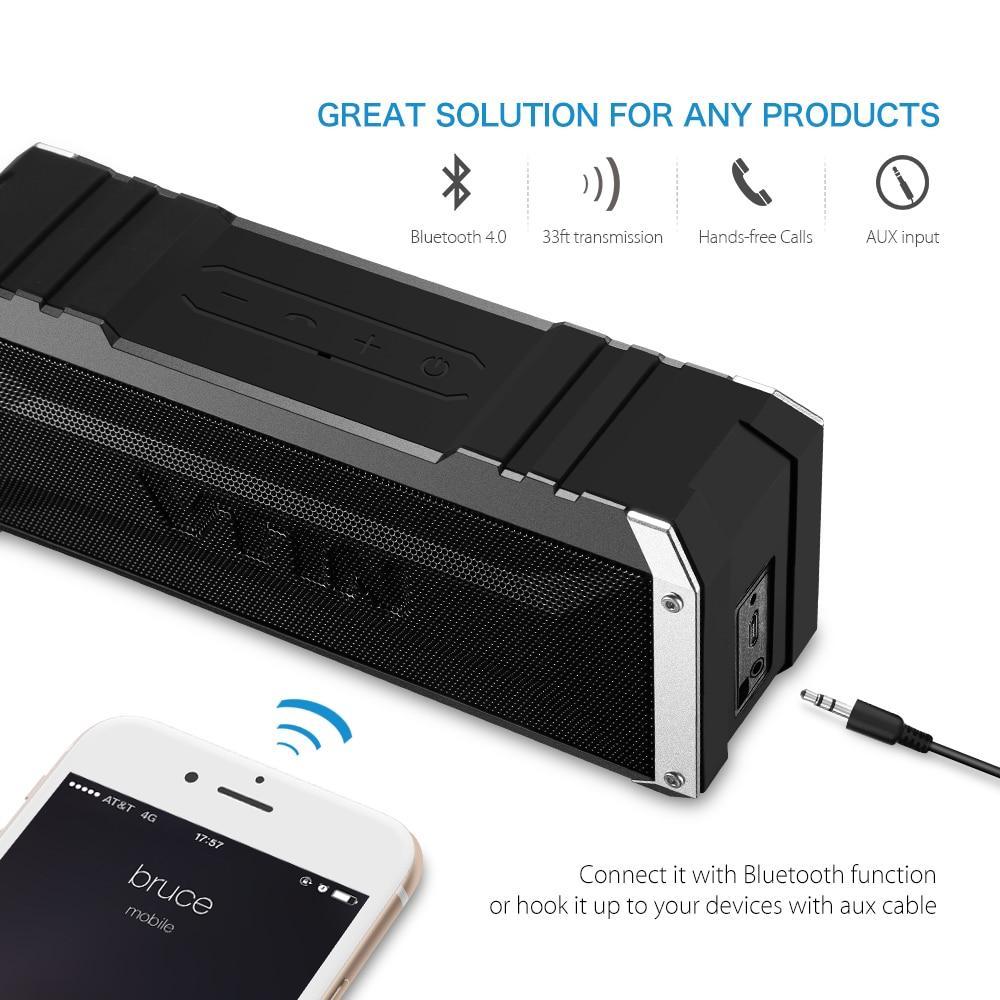 VTIN Bluetooth Wireless Speaker Portable Outdoor Super Bass Punker Subwoofer US