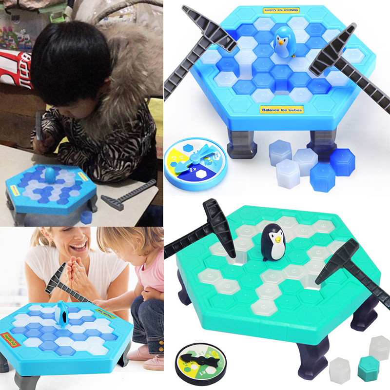 New Save Penguin Puzzle Toy Plastic Baby Child Adult Beat Toy Family Games Knock Ice Cubes Tap Penguin Building Blocks Relax Toy пинетки митенки blue penguin puku