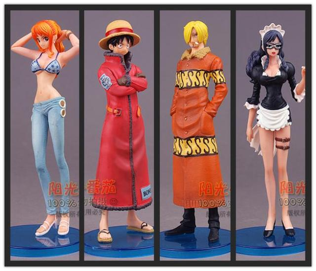 One Piece Luffy Nami Sanji Anime Action Figure in bulk no box