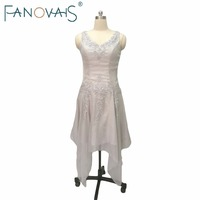 Silver Beading Mother Of The Bride Dresses Plus Size With Jackets 2015 Tea Length Formal Groom