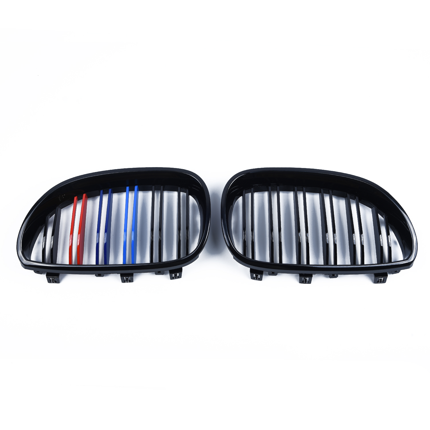 Left Grilles M-Color Front Kidney Grill for <font><b>BMW</b></font> <font><b>E60</b></font> E61 2003-2010 <font><b>5</b></font> <font><b>Series</b></font> Replacement 33*18*<font><b>5</b></font>.9cm Right image