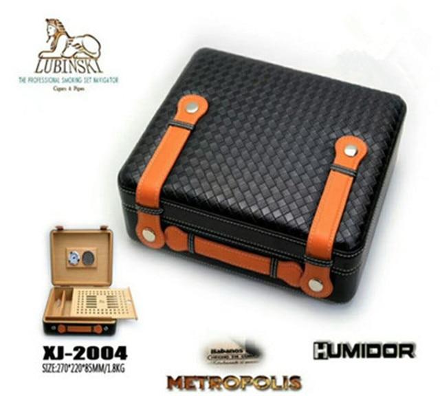 Lubinski Luxurious Mat Tote Style Snow Pine Cigar Box Outdoor Travel Portable Humidor Tool For Cohiba
