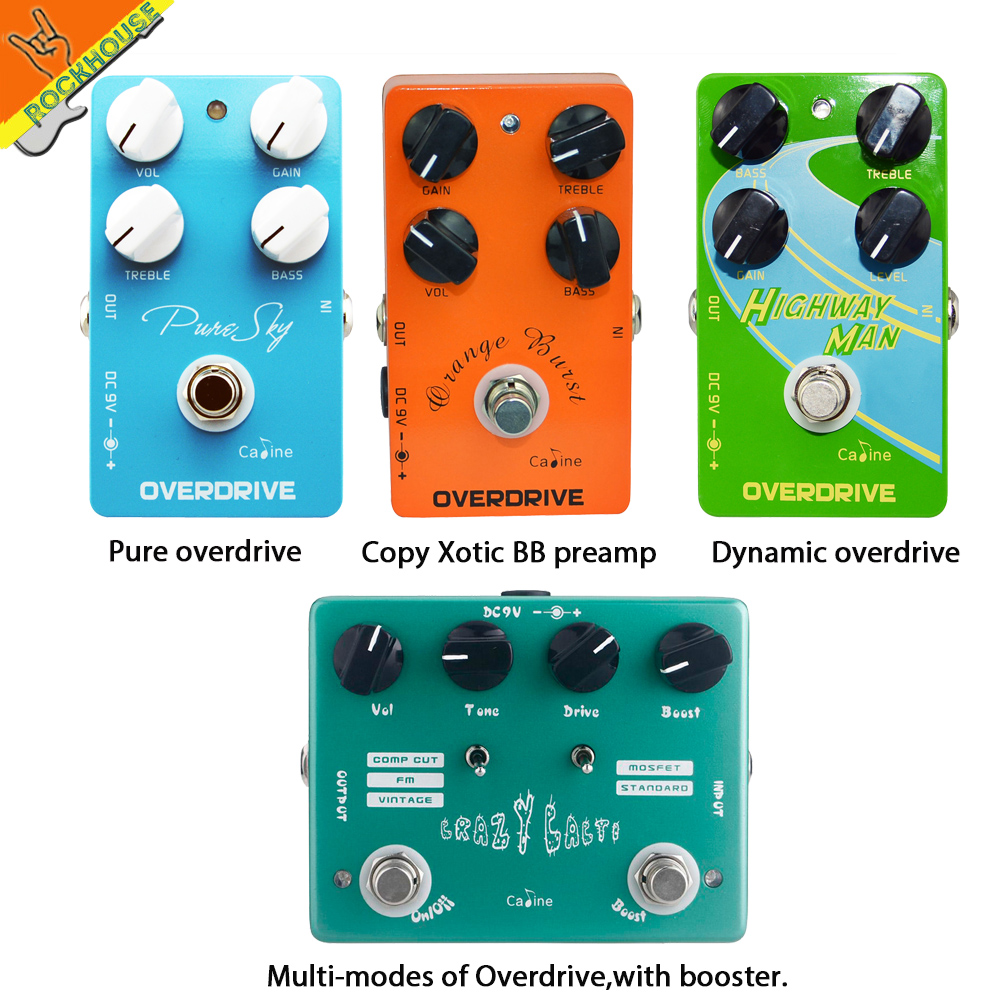 Caline Overdrive Guitar Effects Pedal Guitarra Overdrive low-gain high-power Drive Booster Overload True Bypass Free Shipping new pegasus overdrive pedal guitar effects pedal high power drive booster tube overload stompbox true bypass free shipping