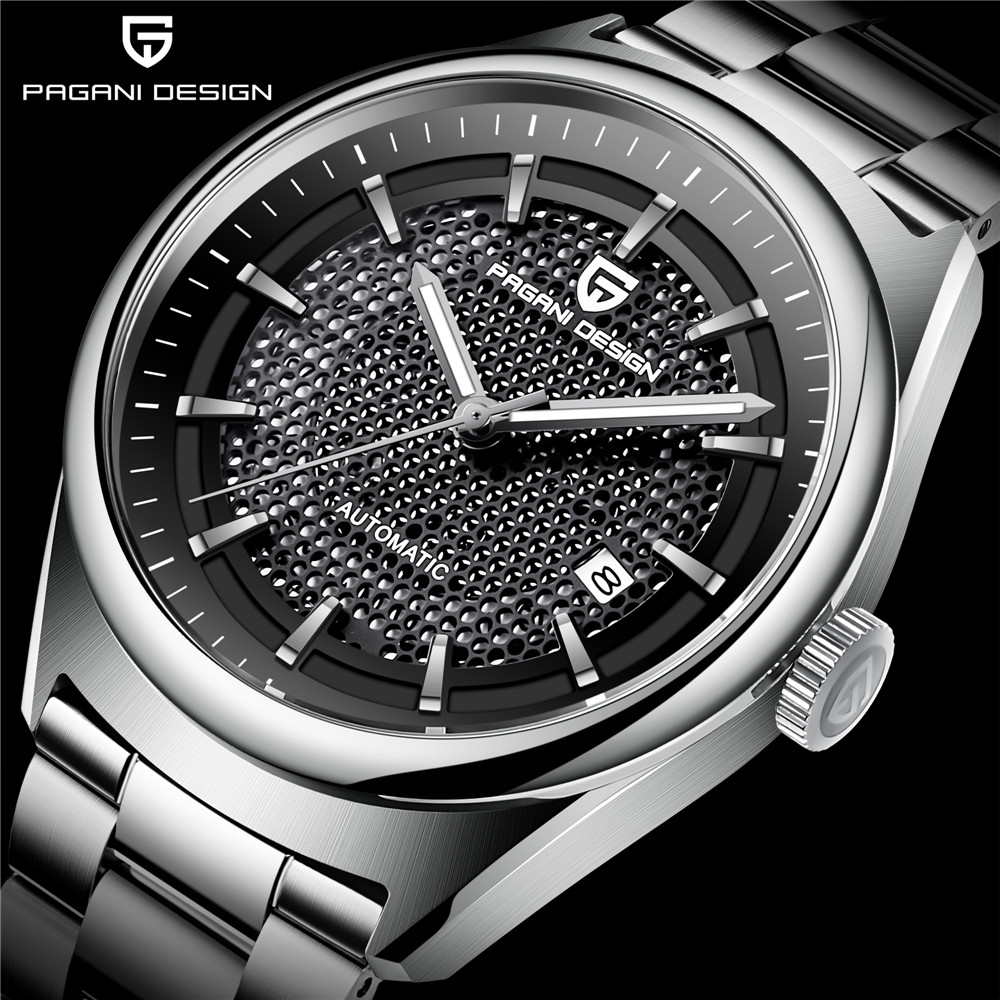 2018 PAGANI DESIGN Fashion Automatic Mechanical Mens Watches Luxury Stainless Steel Men Watch Business Men Clock relojes hombre-in Mechanical Watches from Watches    1