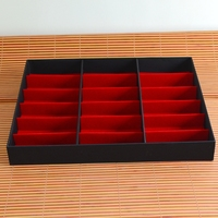 Black And Red Color Travel Eyeglasses Display Boxes For 18 Pairs Of Sunglasses Organizer Tray