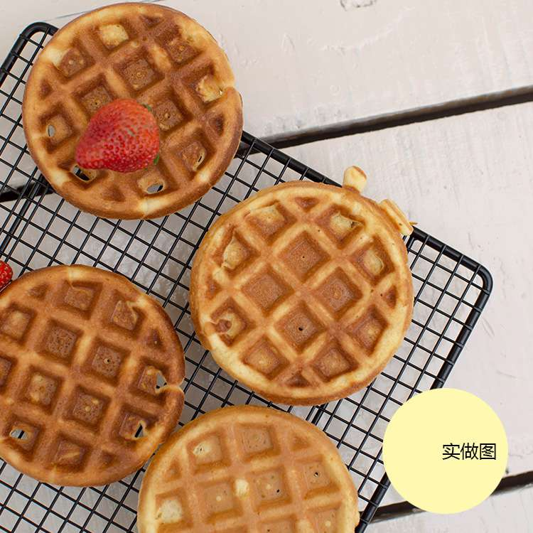 220V Breakfast Maker Machine Automatic Electric Round Waffle Machine Non-stick Electric Waffle Baking Multifunctional Machine household mini waffle machine diy breakfast machine baking tools cake machine electric waffle machine 220v 750w rmdm200