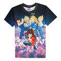 Formas de Impressão 3D T-shirt Dragon Ball Z Vegeta Lutadores algodão Unisex Camisetas Super Saiyan Anime Homme Casuais Solta topos