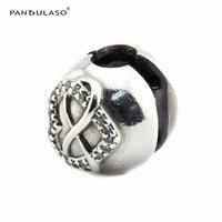 Serve para Pandora Charm Bracelet Authentic 925 Grânulos de Prata Encantos Estrela de Cristal Pavimenta o Bola Rosa Beads Mulheres Jóias DIY Transporte da gota