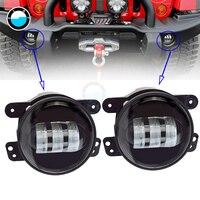 2pcs Pair 4 30W Front Bumper Led Fog Light Fog Lamp For Jeep Wrangler Dodge Journey