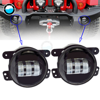2pcs Pair 4 30W Front Bumper Led Fog Light Fog Lamp For Jeep Wrangler Dodge Journey