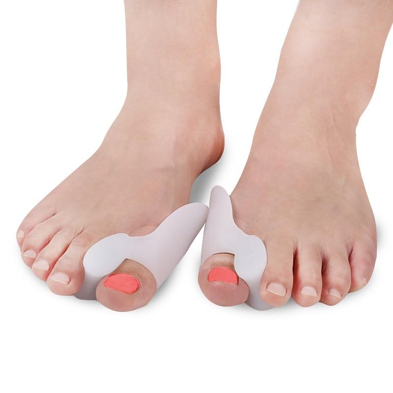 Tcare  1Pair Silicone Gel Hallux Valgus Relief Bunion Corrector and Bunion Relief Gel Toe Protectors / Toe Separators Bunion Pad