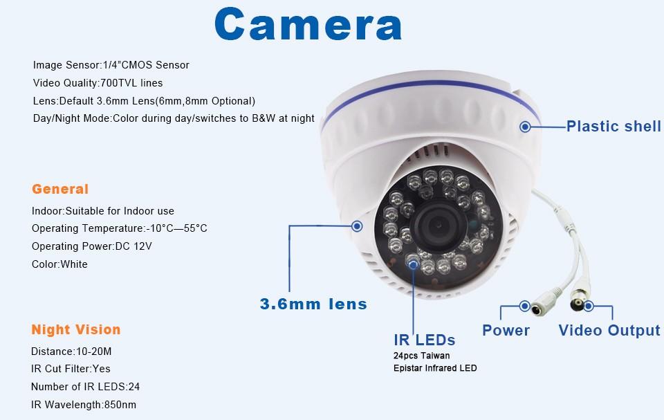 6-700TVL Analog Camera 50-B