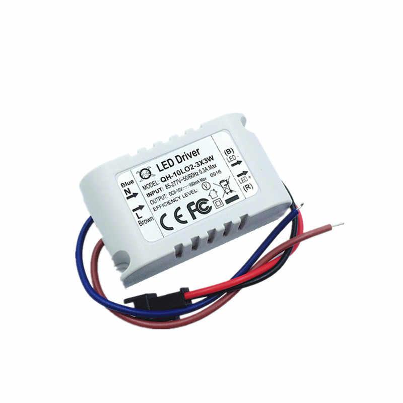 2-3x3W 10 Вт светодиодный трансформатор драйвера para 10 Вт COB чип/XPE 900mA мотоцикл